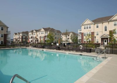 Warminster, PA apartment resort style swimming pool at Station at Bucks County