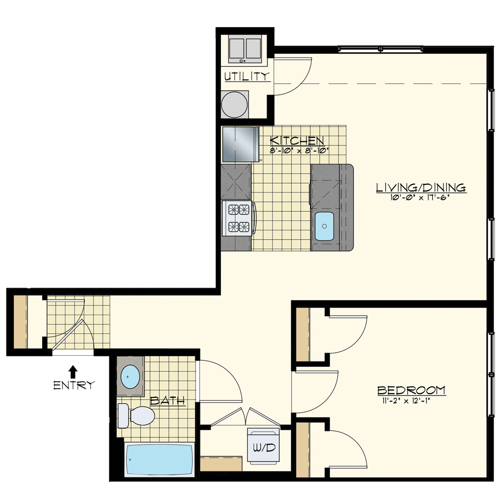 Station at Bucks 1 Bedroom Floor Plans