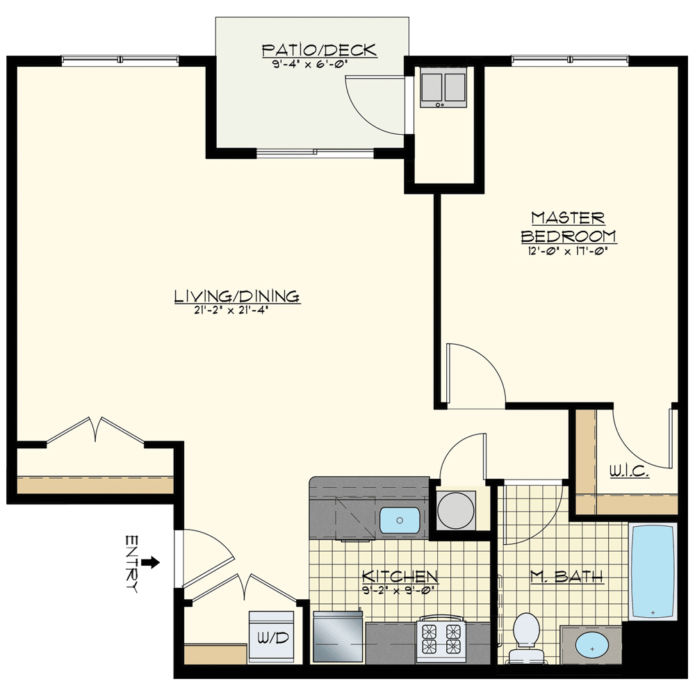 Station at Bucks One Bedroom Floor Plan Golden Spike Elite