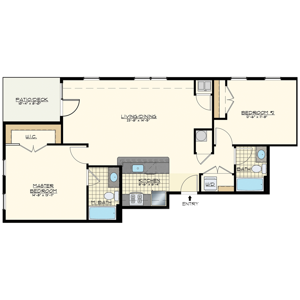 Station at Willow Grove Two Bedroom Floor Plan Union Pacific
