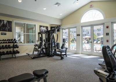 on-site fitness center at Warminster pa apartments at The Station at Bucks County
